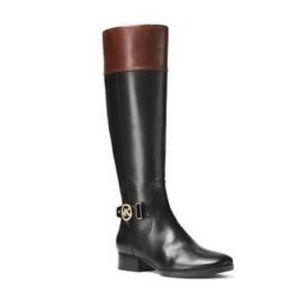 MICHAEL KORS Harland Boot in black/brown size 8.5